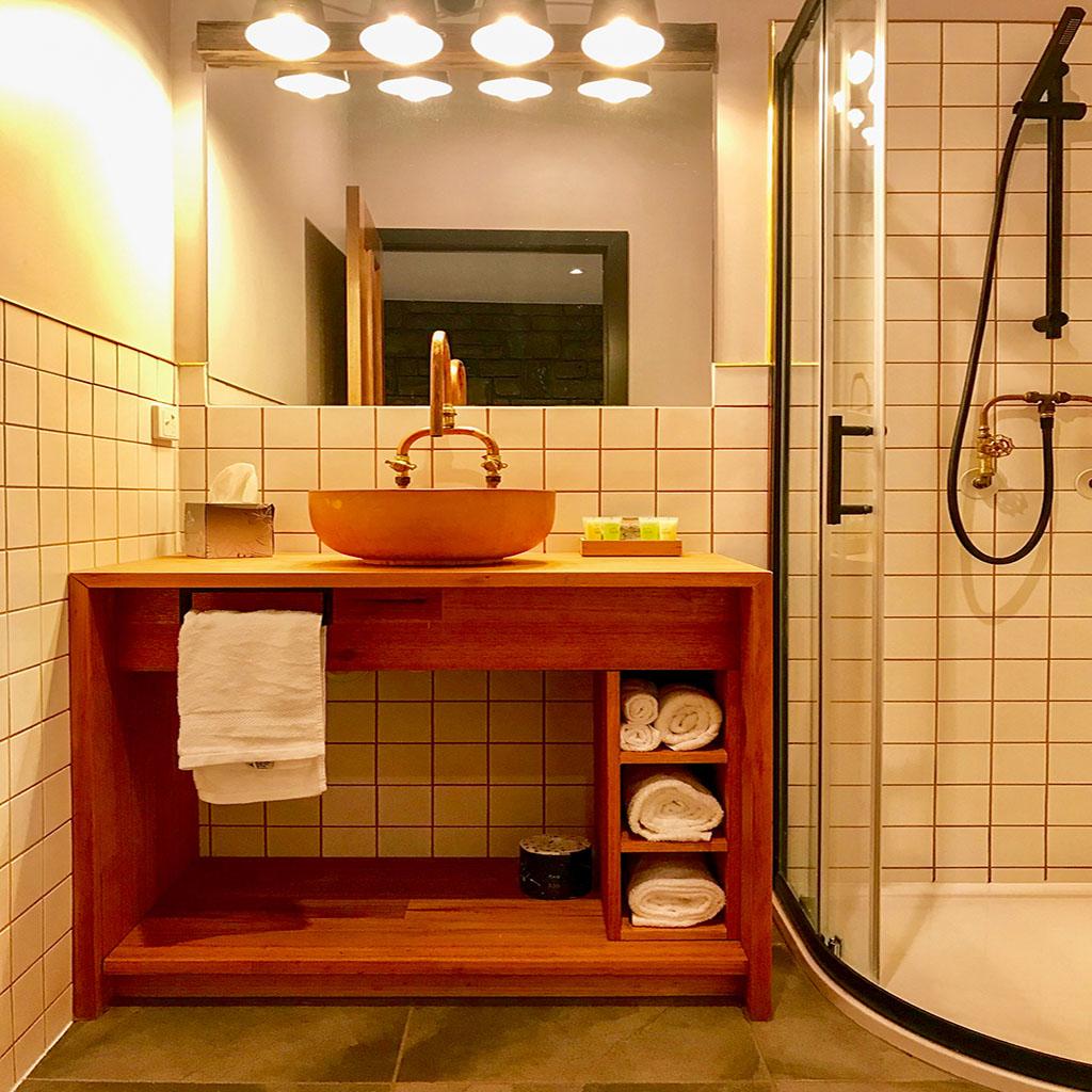 Cherry bathroom
